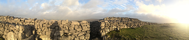 Exterior wall of Dun Aengus. Photo: Sheila Langan
