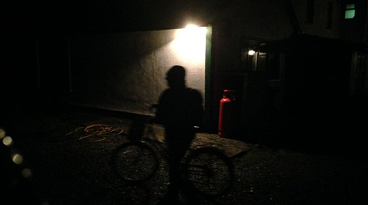 Approaching the hostel with some trepidation. Photo: Arkell Weygandt