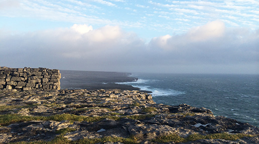 View from Dun Aengus. Photo: Sheila Langan