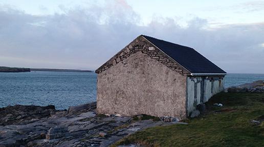 Cottage along the coast road on Inishmore. Photo: Arkell Weygandt