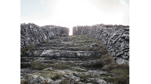Steps up to Dun Aengus. Photo: Arkell Weygandt.