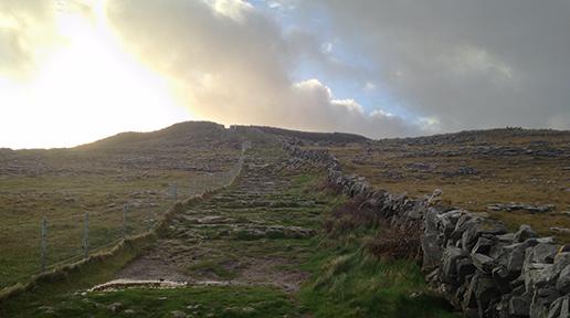 Leading up to Dun Aengus. Photo: Arkell Weygandt